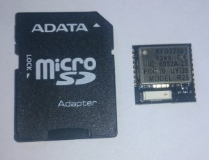 rfduino pictured next to an SD card for scale.